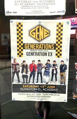 GENERATIONS のワールド・ツアー、ロンドン公演