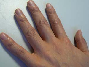 きれいな自分の手