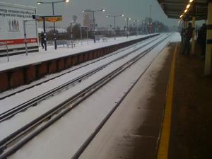 雪が降った、電車が止まった