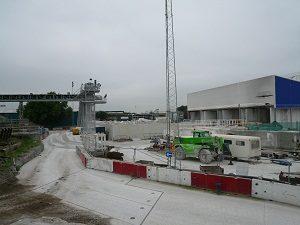 新たな下水トンネルの建設現場です