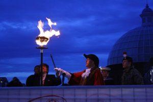 エリザベス女王の90歳の誕生日を祝うかがり火の点火式に行ってきた