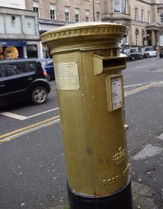 golden post