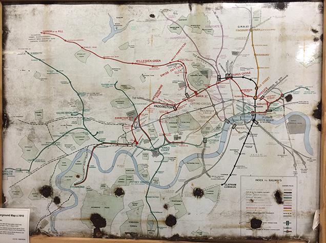 1910年の地下鉄マップ