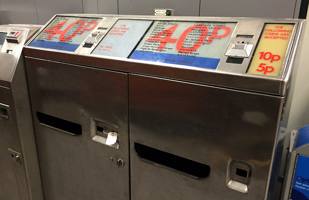 地下鉄で使用されていた券売機