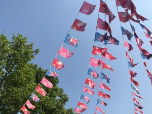 花柄の小旗