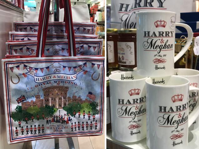 ハロッズのバッグとマグカップ