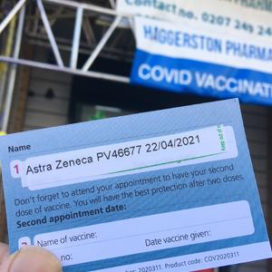 corona vaccination card
